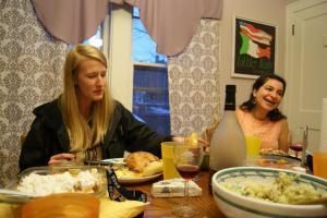 Kathleen and Maral at Thanksgiving